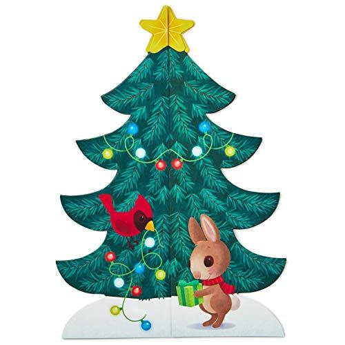 [해외]스티커 장식 액세서리와 홀 마크 3-D 크리스마스 트리 출현 달력 / Hallmark 3-D Christmas Tree Advent Calendar with Stickers Decorative Accessories