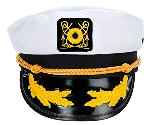 VWH Adult Yacht Captain Hat Costume Accessory One size
