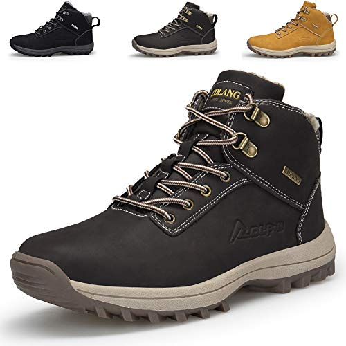 Men High Rise Outdoor Boots Non-Slip Trekking Shoes Lace-up Outdoor Shoes for All Season Walking, Travelling, Backpacking,Camping, Trekking, Biking