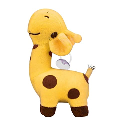 Mamum - Jouet mignon en forme de girafe - En peluche - Doux - Animal - Poupée - Pour bébé et enfant - Pour un anniversaire ou comme cadeau de fête 18CM jaune