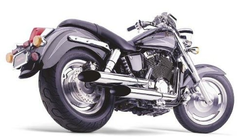 Cobra Hot Rod Classic Deluxe Slashcut Exhaust System for Honda Cruisers - Honda VT1100C2 Shadow Sabre 2000-2007