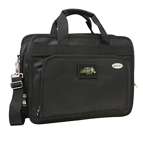 NCAA North Dakota State University Expandable Laptop Briefcase, 13-Inch, Black by Denco