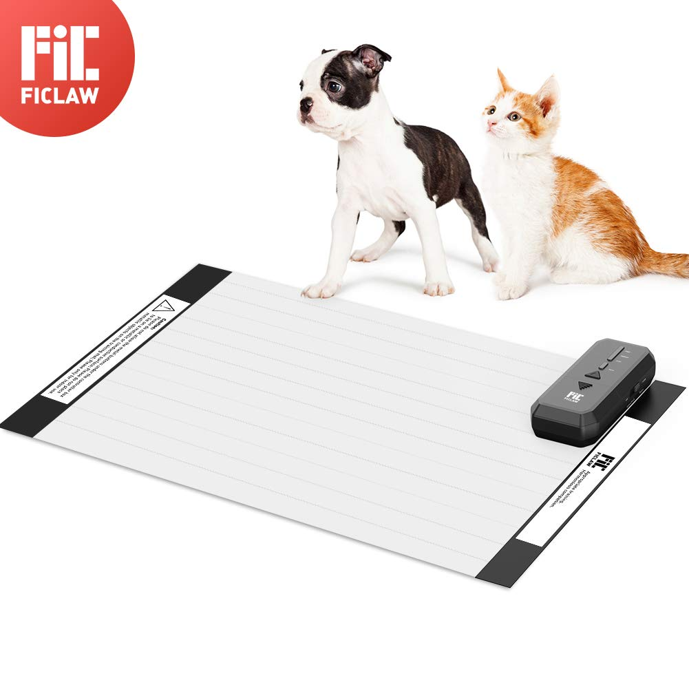 FICLAW Pet Shock Mat 30x16 Inches Pet Training Mat for Cats Dogs Pet Shock Pad with Intelligent Safety Protection Indoor Use Sofa Furniture Bed Kitchen by FICLAW