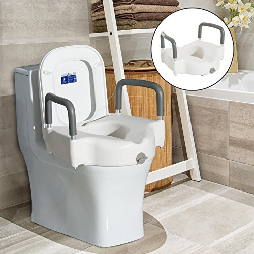 New MTN-G Raised Elevated Toilet Seat Padded Arms Health Riser Bathroom Safety Removable