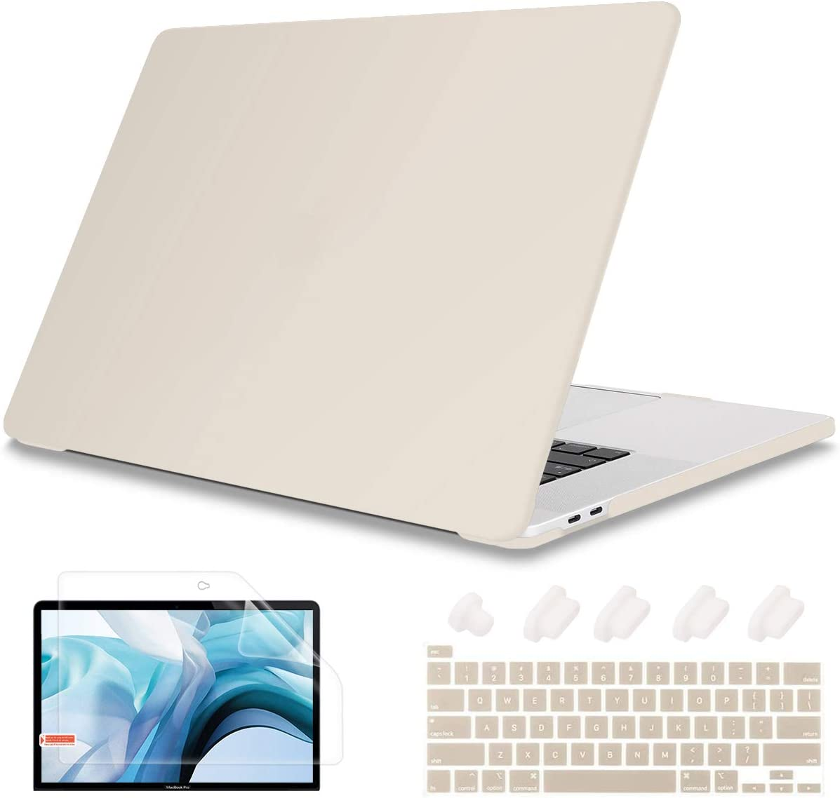 May Chen Laptop case MacBook Pro 13 inch Case Models: A2251 A2289 (2020 Release), Plastic Hard Shell Case Cover with Keyboard cvoer for MacBook Pro 13 with Touch Bar, Rock ash