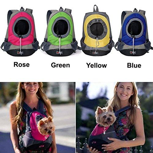 Asialong portapacchi frontale a rete per cane cucciolo for Trasportino per cani amazon