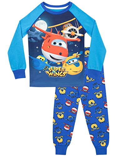 (Super Wings Boys' Jett and Donnie Pajamas Size 3T Multicolored)