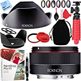 Rokinon 35mm f/2.8 FE (IO35AF-E) Ultra Compact Wide Angle Lens for Sony E Mount Cameras with 49mm Filter Sets Plus Accessories Bundle
