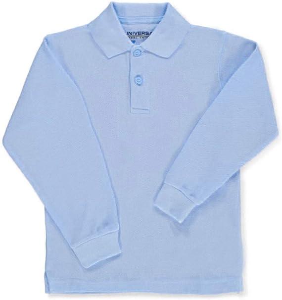 Camiseta universal para niños de manga larga, tipo polo de piqué ...