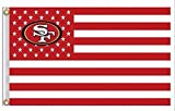 NFL San Francisco 49ers Stars and Stripes Flag Banner – 3X5 FT – USA FLAG