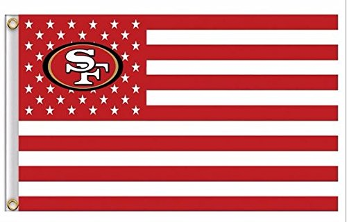NFL San Francisco 49ers Stars and Stripes Flag Banner - 3X5 FT - USA FLAG by San Francisco 49ers Stars and Stripes