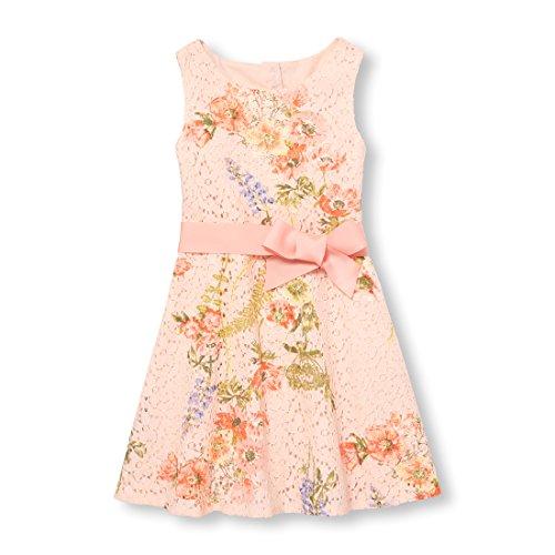 The Children's Place Big Girls' Sleeveless Dressy Dress, Pale Petal 7234, 6X/7