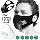 Activated Carbon Anti Flu Dust Pollution Allergy Breathing Reusable Mask with Filter Fashion, Smart Electric Face Mask for Air Purifying