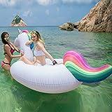 Jasonwellユニコーン大型浮き輪  快速エアバルブ  夏の日  プールパーティー  子供用浮き輪  強い浮力  フロート  海水浴  プールおもちゃ  海フロート  飾りおもちゃ-- 200cm*100cm*90cm
