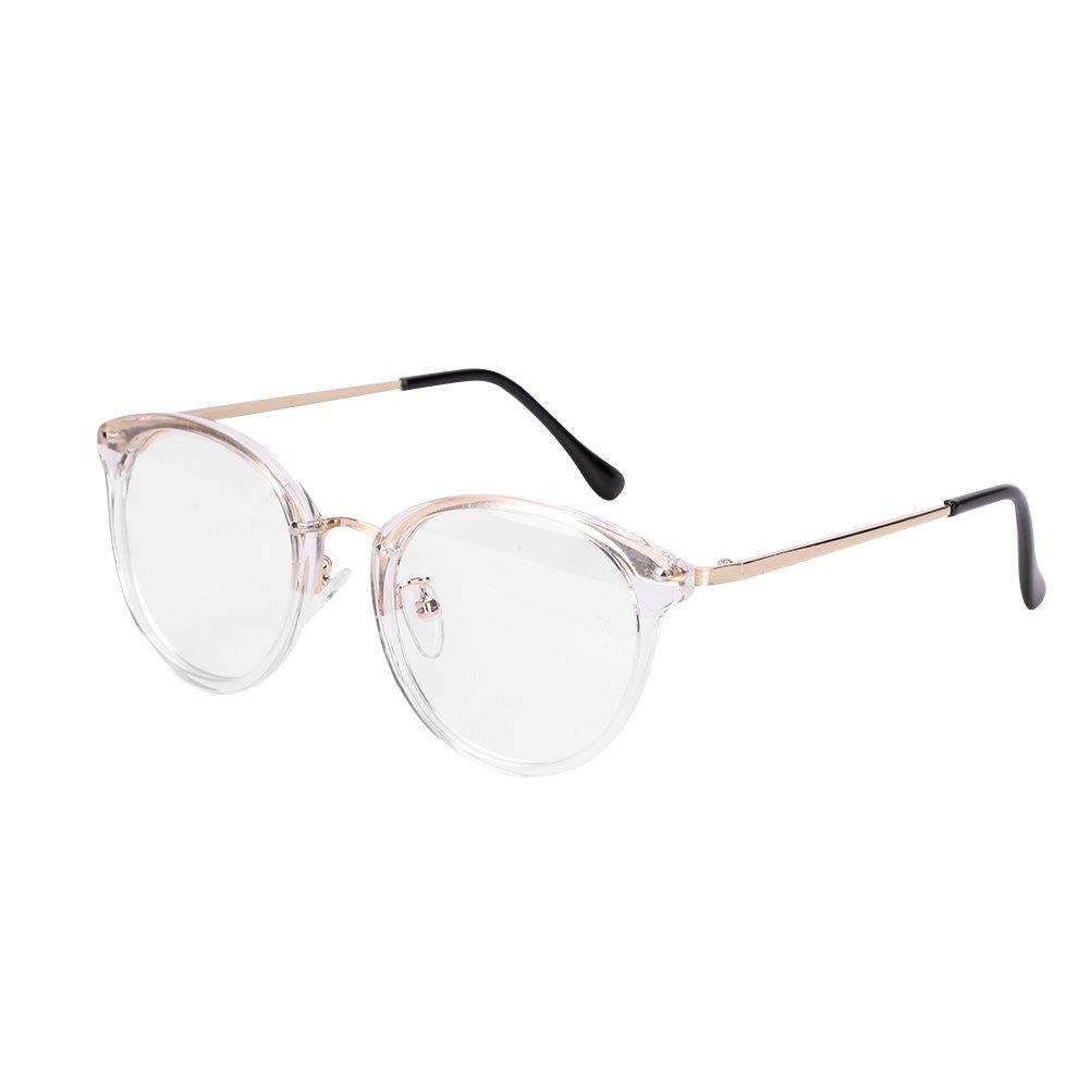 Retro Brille Student Lehrer Damen Herren Slim-Brille ohne stä rke Nerdbrille Linsen Brillenfassung clear lens Dekobrillen fashion Streberbrille Transparente Lesebrille mit Brillenetui fü r Computer PC