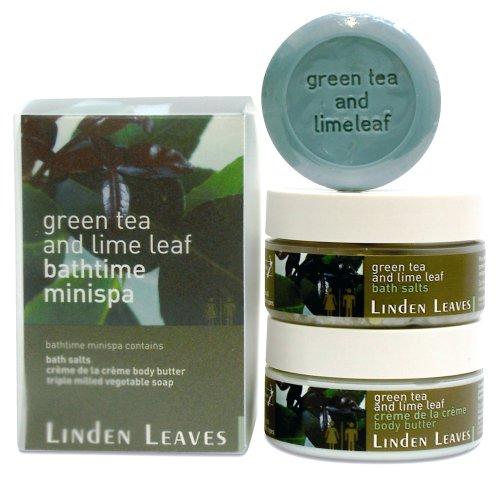 Linden Leaves Bathtime Mini Spa Kit, Green Tea and Lime Leaf LL-0509