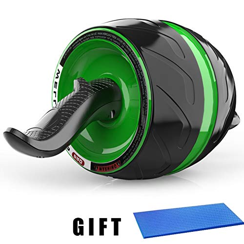 MrEMStrainer AB Carver Pro Roller,Core Workout Abdominal Stomach Muscle Fitness Exercise Training Equipment with Knee Mat Perfect Wheel Trainer for Man Woman