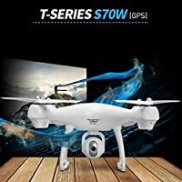 Thread_us S70W 2.4GHz FPV drone and 1080P high-definition camera Wifi headless mode Intelligent GPS automatic follow-up remote control four-axis aircraft fixed-height positioning return home