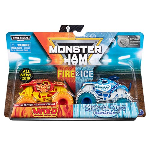 (MJ 2019 Monster Jam Fire & Ice Max-D and Monster Mutt Dalmatian Special)