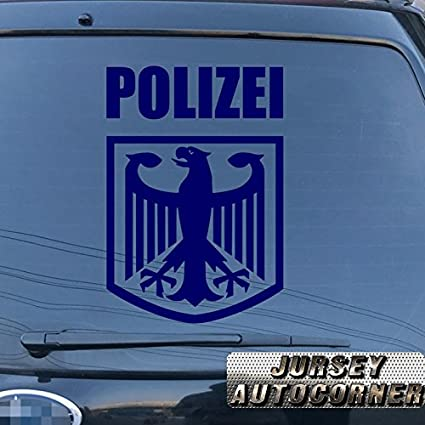 Polizei police german eagle coat of arms of germany car truck decal sticker vinyl deutschland german