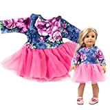 XEDUO The Best Toy Gift Beautiful Clothes Yarn Tutu Dress for 18 Inch American Doll Accessory Girl's Toy (Purple)