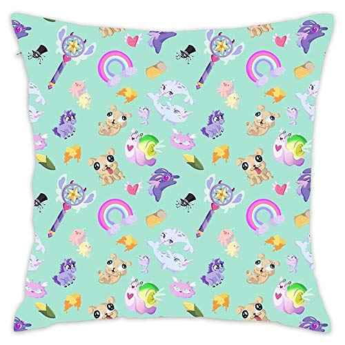 Wbsdfken Star Vs The Forces of Evil Pattern (Blue) Soft Cotton Cushion Case Home Decor Design Throw Pillow Cover for Living Room (18