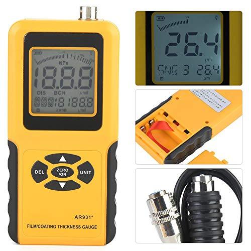 コーティング厚さゲージ、AR931デジタルコーティング厚さゲージテスター測定範囲0〜1800um