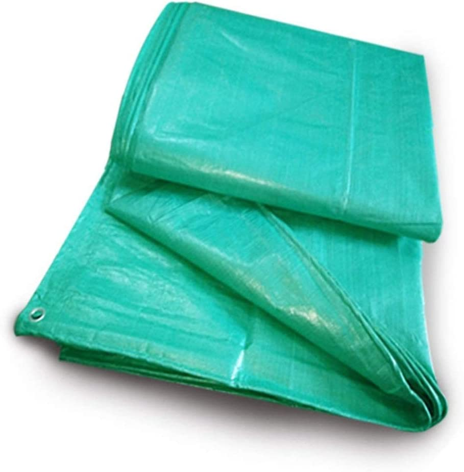 19-yiruculture 屋外テント厚手防水シート防水日焼け止めカラーストリップ商品貨物シェード布トラック防水シート (Color : 緑, サイズ : 8X10M) 緑 8X10M