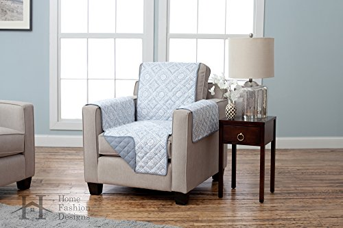 Deluxe Reversible Quilted Furniture Protector. Two Fresh Looks in One. By Home Fashion Designs Brand.