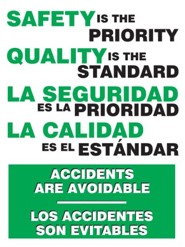 Workplace Safety Posters - Accuform Signs SBPST110 Spanish Bilingual Safety Awareness Poster,