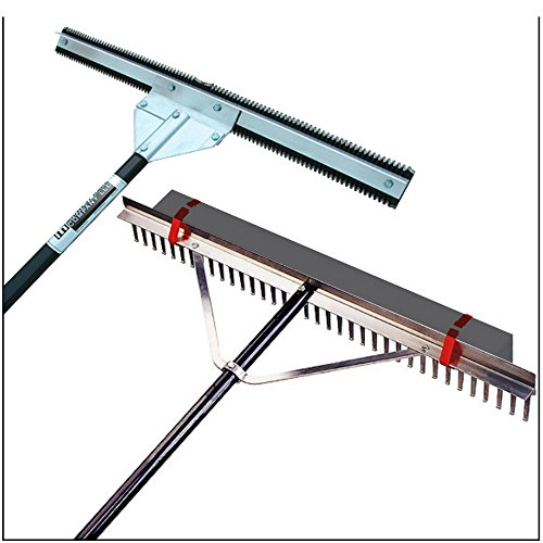 Aquatic Weed Eradicator Seaweed Cutter + 36'' Wide Lake & Beach Rake Combo Pack by Midwest Rake