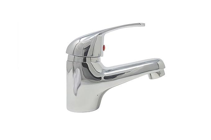 Rubinetto miscelatore bagno lavabo casa grigio silver basic