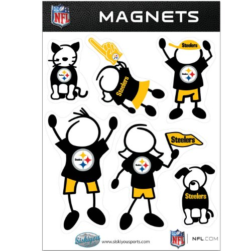 NFL Pittsburgh Steelers Family Magnet Set (Football Refrigerator)
