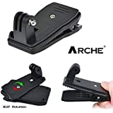 Arche GoPro Action Cam Accessories Sports Camera Action Camera Accessory for Gopro Fusion Hero3 3+ 4 Hero4 Session Hero 5 Black Hero5 Hero 6 Black Hero6 (360 Degree Clip)