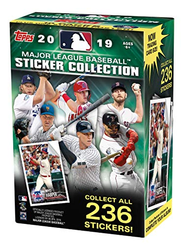 Topps 2019 MLB Baseball Sticker Value Box- 10 Packs 1 Exclusive Poster 40 Stickers Total