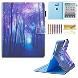 iPad Case, iPad 2/3/4 Case, Dteck Multiple Viewing Angles Folio Stand Smart iPad Case with Auto Sleep/Wake Protective Cover Case for iPad 4th Generation,iPad 3 & iPad 2 - Purple Forest