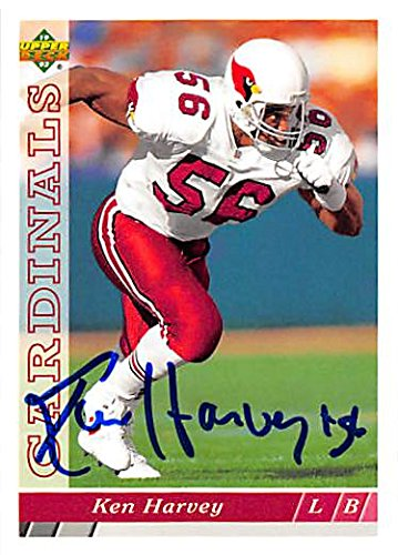 Autograph 125013 Phoenix Cardinals 1993 Upper Deck No. 326 Ken Harvey Autographed Football (326 Ken)