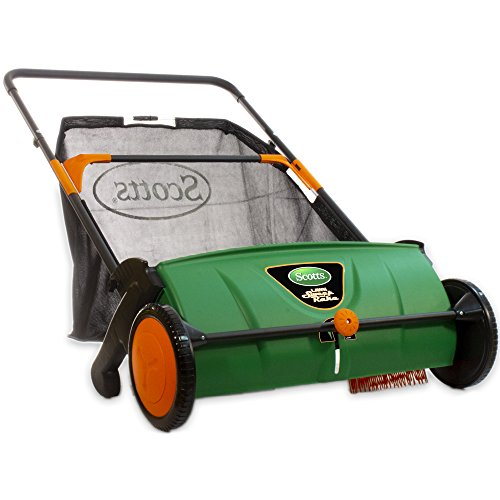 (Scotts LSW70026S Push Lawn Sweeper, 26-Inch Sweeping Width, 3.6 Bushel Collection Bag)