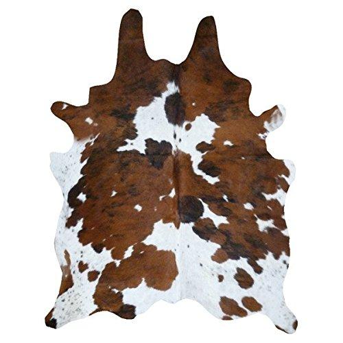 A-STAR(TM) Western Cowhide Rug - Best Cowhides 5 x 7 (Brown and White)