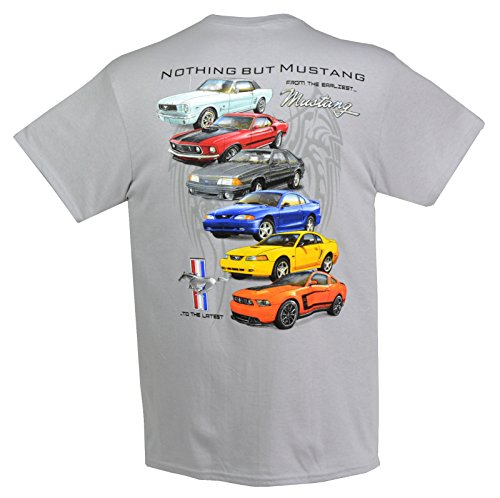 1964 to 2017 Ford Mustang, Mustang GT T-Shirts 100% Cotton - Grey - By HRAC