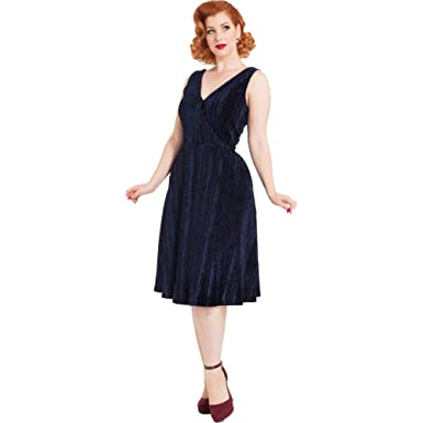 544f710c83b Voodoo Vixen Millicent Velvet Maxy Dress Navy at Amazon Women s ...