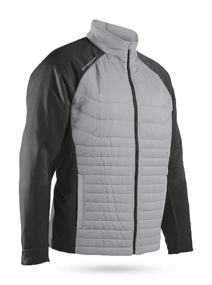 Sun Mountain Mens Hybrid Full Zip Jacket Red