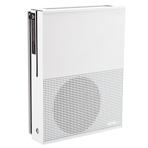 HIDEit X1S Mount (White) - Xbox One S Wall Mount - Made in the USA (2016 Fireplace Designs)