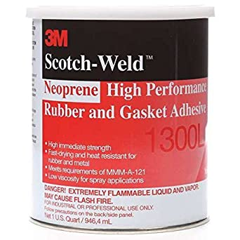 1 Pint 3m 1300 Yellow Neoprene High Performance Rubber And Gasket Adhesive Glues, Epoxies & Cements