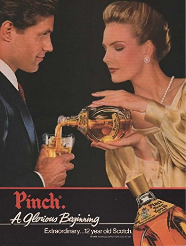 Magazine Print Ad: 1983 Pinch 12 Year Old Scotch, 86 Proof,A Glorious Beginning
