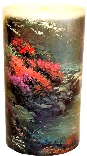 Kinkade Aqua Flame Flameless Candle Fountain Real Wax Led...