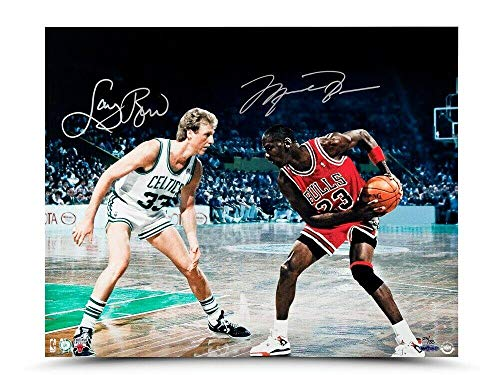 Michael Jordan Larry Bird Signed Autographed 16X20 Photo
