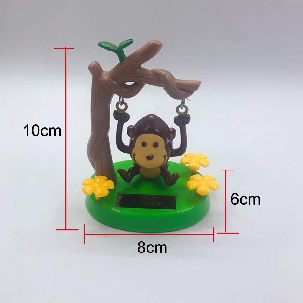 CAheadY Mini Solarbetriebene Schaukel AFFE Schreibtisch Auto Ornament Flip Flap Pot Spielzeug Geschenk Monkey