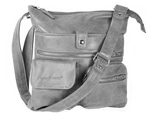 gris Gris Bolso al Bag hombro Street para mujer f7TaP0wq