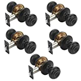Dynasty Hardware SIE-30-12P Sierra Door Knob Privacy Set, Aged Oil Rubbed Bronze, Contractor Pack (5 Pack)
